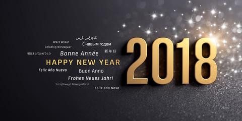 Happy New Year 2018 international Greeting card