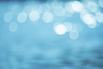 Bokeh blue patterned background