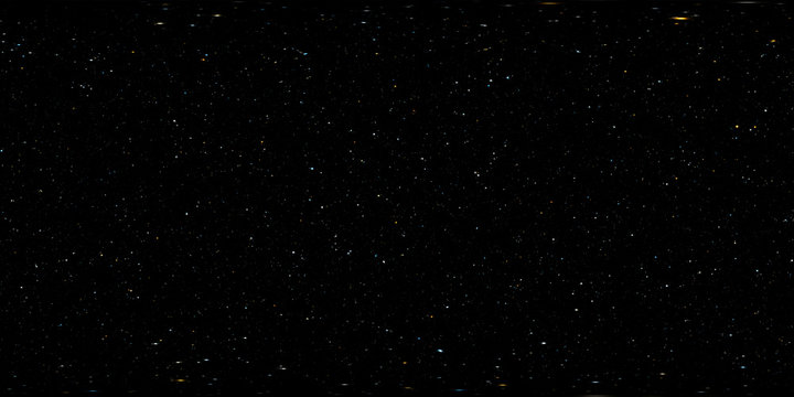 Star field panorama, environment HDRI map (medium density). Equirectangular projection, spherical panorama. 3d illustration