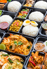 Variety Thai Meal Boxes.