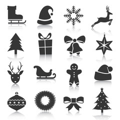 Set of Christmas, New Year icons. Vector illustration