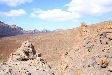 Volcanic El Teide National Park on Tenerife Island, Canary Islands, Spain