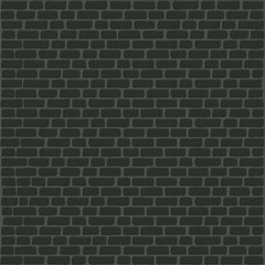 Black brick wall background. Old stone texture. Vector illustration.