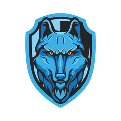 wolves logo mascot design vector illustration