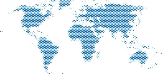 Foto op Plexiglas Wereldkaart Dots world map on white background, vector illustration.