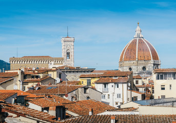 Terracotta houses and Florence's iconic Cattedrale di Santa Maria del Fiore