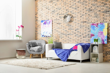 Beautiful modern room interior