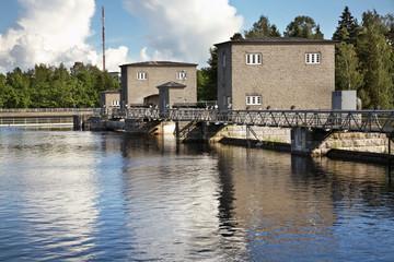 Imatrankoski dam in Imatra. Finland