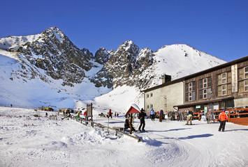 Ski station in Tatranska Lomnica. Slovakia
