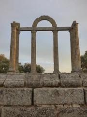 Templo de Augustobriga /Talavera la Vieja en Bohonal de Ibor, Caceres,Extremadura. Templo de Diana en embalse de Valdecañas