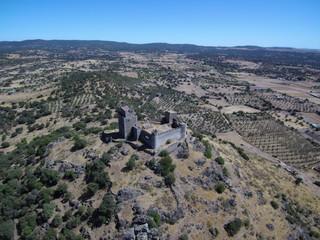 Castillo de Burguillos del Cerro,pueblo de Badajoz Extremadura, España