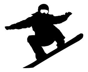 Snowboarder Vector Silhouette