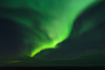 The Aurora in the tundra in the fall.
