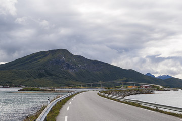 A typical view in the Lofoten - roads and bridges connecting many islands