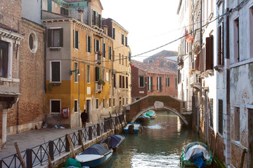 Venice Italy - Historical buildings during Venice Carnival