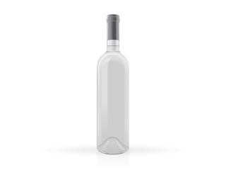 transparent bottles of wine mock up vector template