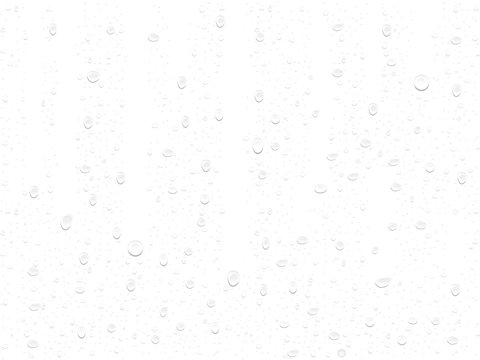 transparent drop on a white background