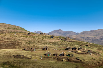 Typical local village in rural Lesotho