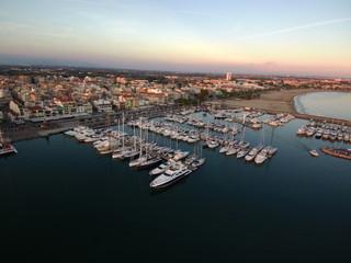 Cambrils desde el aire. Pueblo turistico de  Tarragona, Catalunya