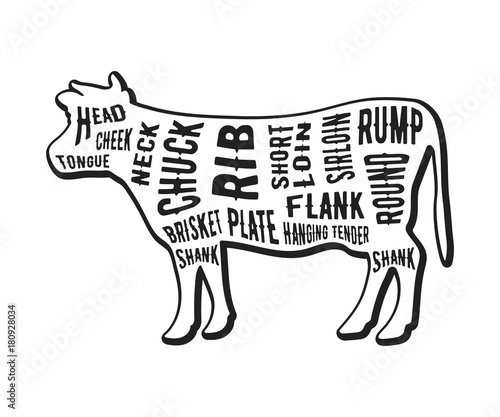 Beef Cuts Template Stock Image And Royalty Free Vector Files On