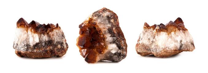 beautiful sparkling crystals, gemstone isolated on whithe background
