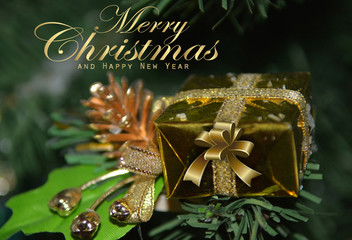 Christmas and New Year's greeting card