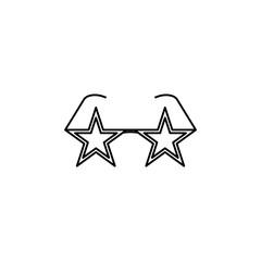Stars glasses disco symbol sign silhouette icon