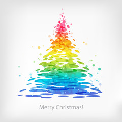 Abstrct multicolored Christmas tree