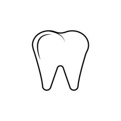 Premium tooth icon or logo in line style. High quality sign and symbol on a white background. Vector outline pictogram for infographic, web design and app development