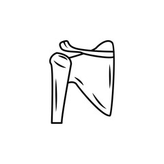 Shoulder joint isolated icon. Body part element. Premium quality graphic design. Signs, outline symbols collection, simple thin line icon for websites, web design, mobile app, info graphics