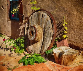 Old West Wooden Wheel For Antique Cart