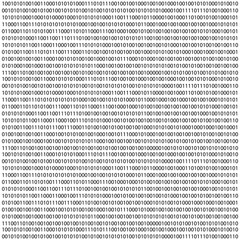 binary code zero one matrix white background. banner, pattern, wallpaper.  illustration