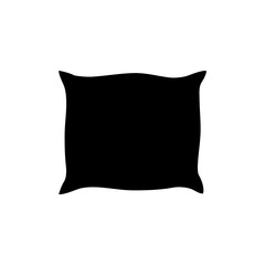 Pillow icon vector cartoon pillow silhouette, outline vector symbol icon design. Beautiful illustration isolated on white background
