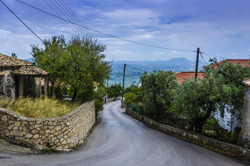 small town and countryside in zakynthos island