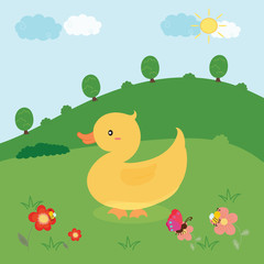 cute duck vector
