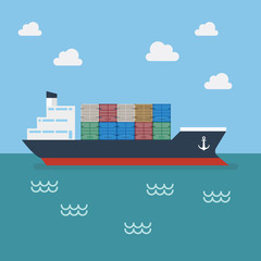 Cargo shipping with containers