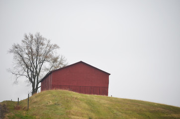barn on hill side