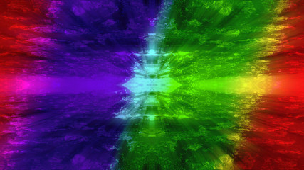 An abstract rainbow colored tie dye background image.