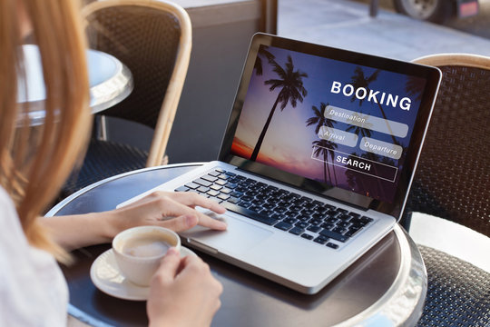 booking online concept, travel planning