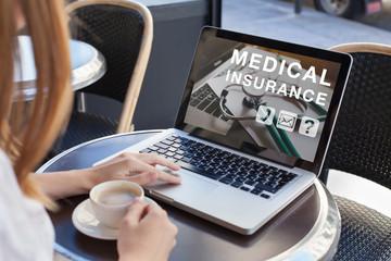 Fototapeta medical insurance concept