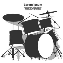 Drum set. Vector illustration