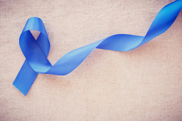 Blue ribbon, Colon Cancer, Colorectal Cancer, Child Abuse awareness, world diabetes day
