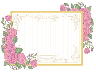 バラのフレームカード