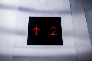 elevator screen show floor number