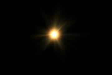 digital lens flare,sun burst on black background.