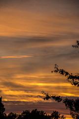 Sonnenuntergang und Schatten