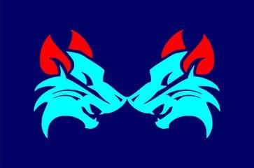 wolf tribal vector