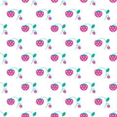 Seamless pattern with plant elements. Nature berries background.
