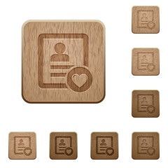 Favorite contact wooden buttons