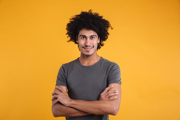 Portrait of a confident young afro american man